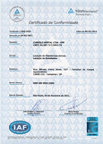 cunzolo, guindastes, certificacao iso, 9001